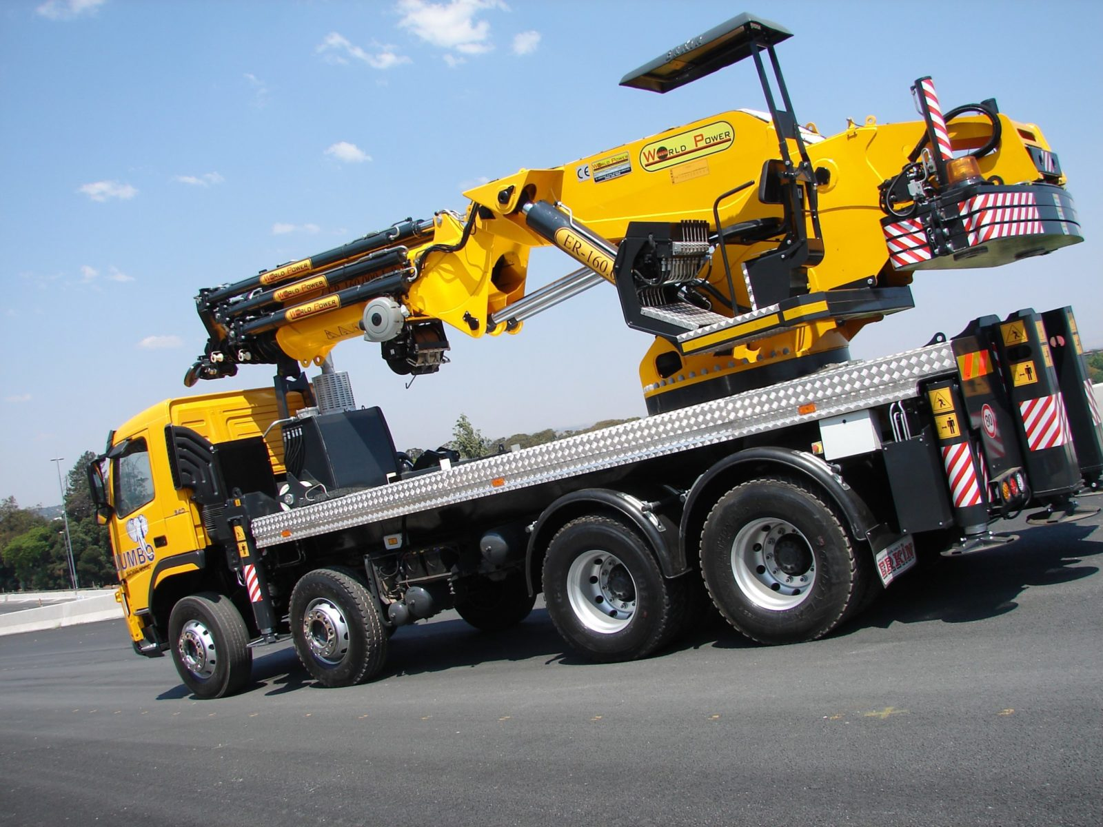 world power 160 t crane