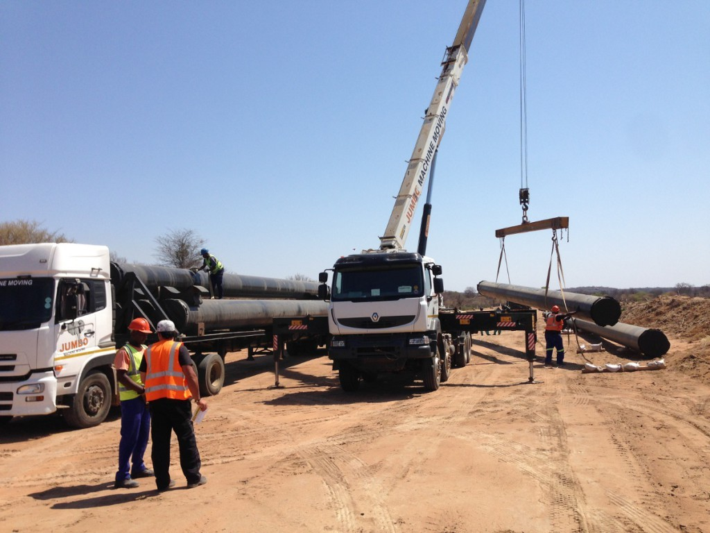 Pipe Transport And Pipe Laying Crane Trucks on semi truck cranes