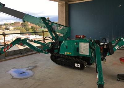 mini crane in construction